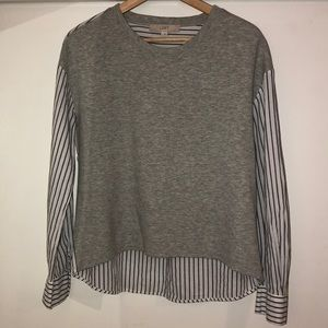 NWOT Loft Two-Paneled Striped Dolman Pullover